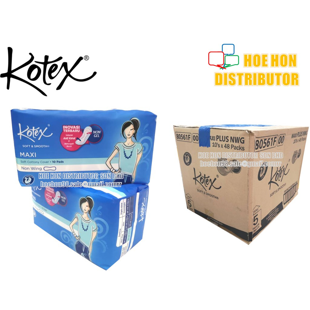 Kotex Maxi Non Wing 23cm 10 Pads