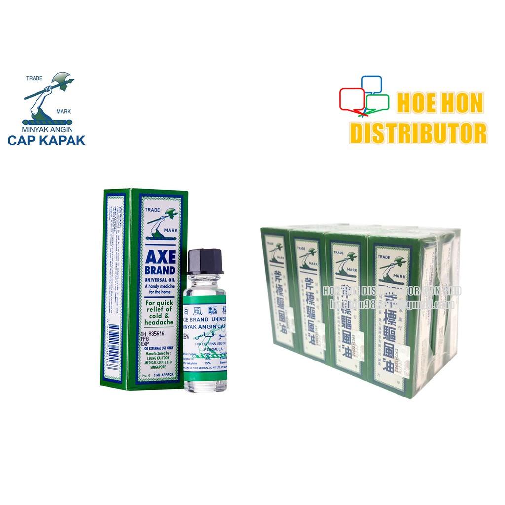 image of Axe Brand Medicated Oil No 6 3ml / Minyak Angin Cap Kapak Kecil