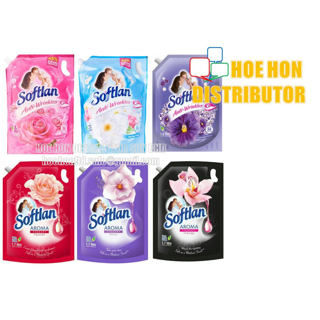 image of Softlan Anti Wrinkles / Aroma Therapy Fabric Softener 1.7L 1.8L