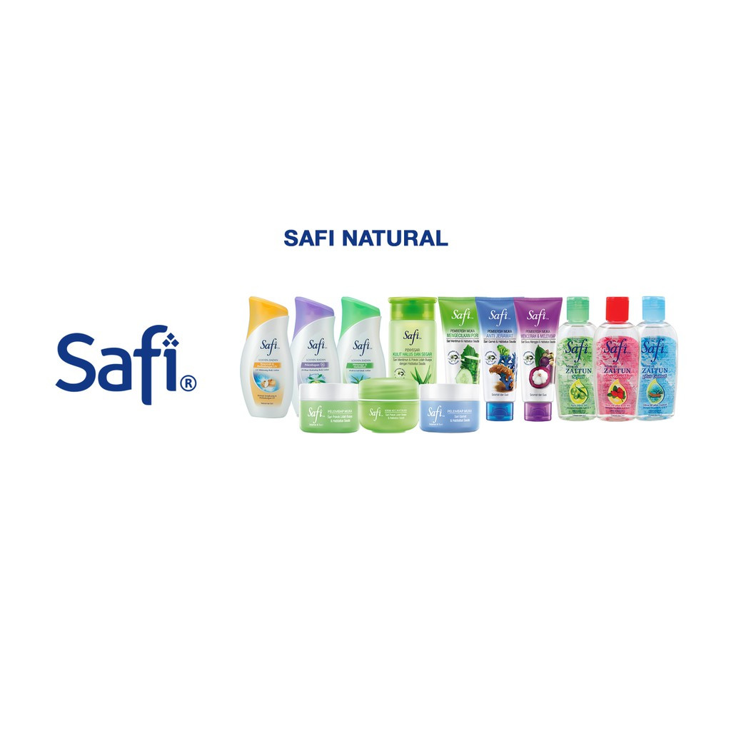 Safi Pembersih Muka 65g Sari Susu Manggis, Sari Gamat, Mentimun & Habbatus Sauda