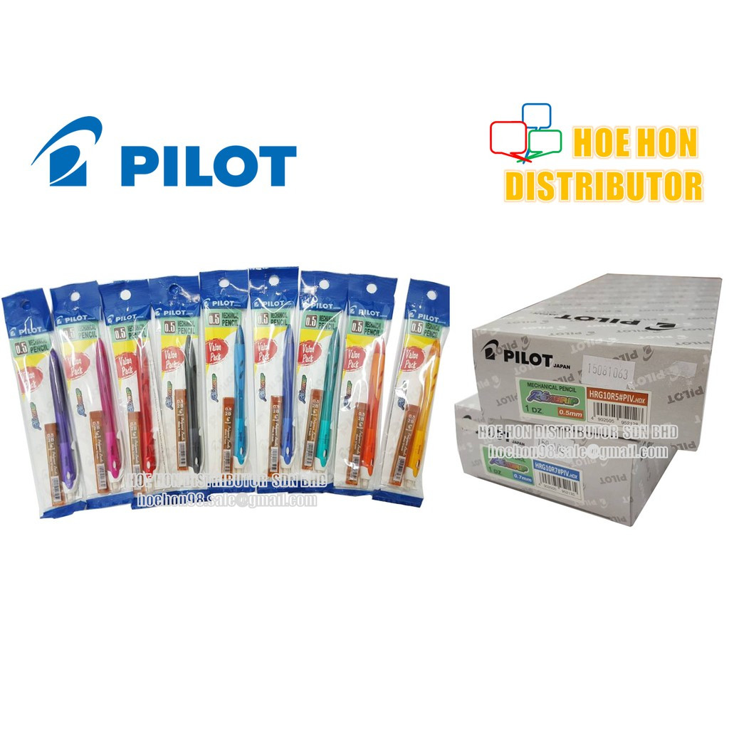 image of [Free Refill] Pilot Rexgrip Mechanical Pencil 0.5mm 0.7mm