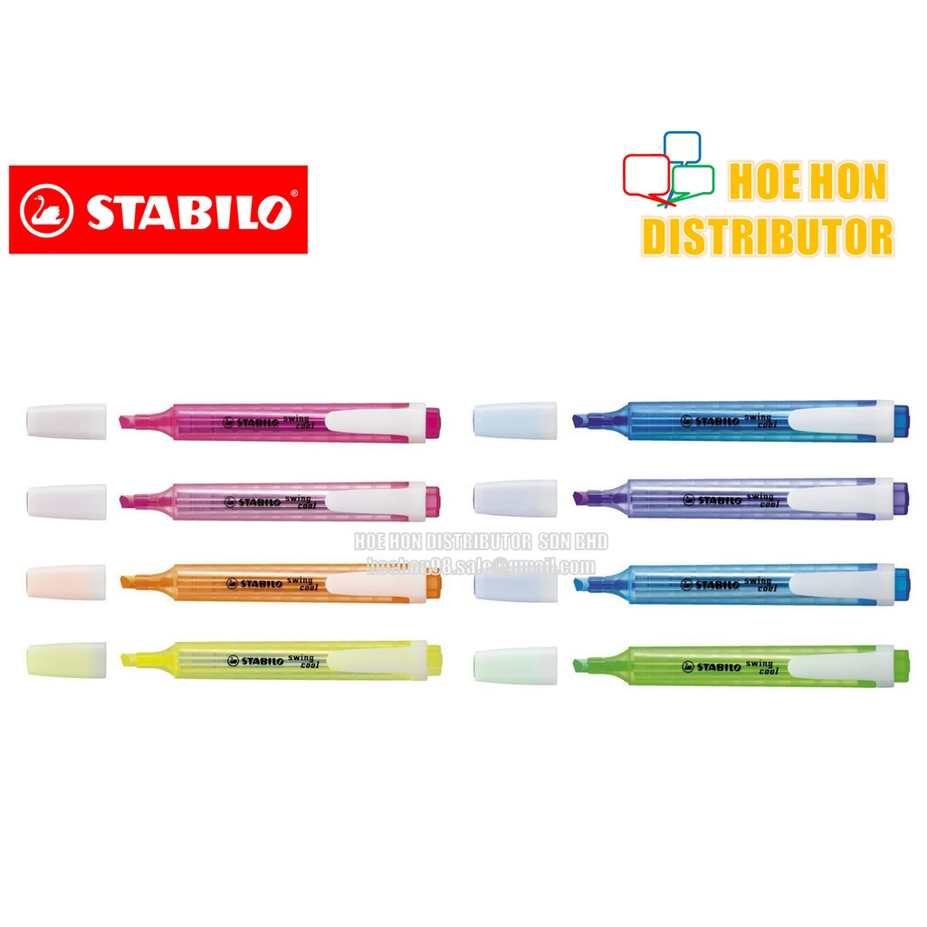 image of Stabilo Swing Cool Highlighter (Creative Art Colour Text Maker) 275