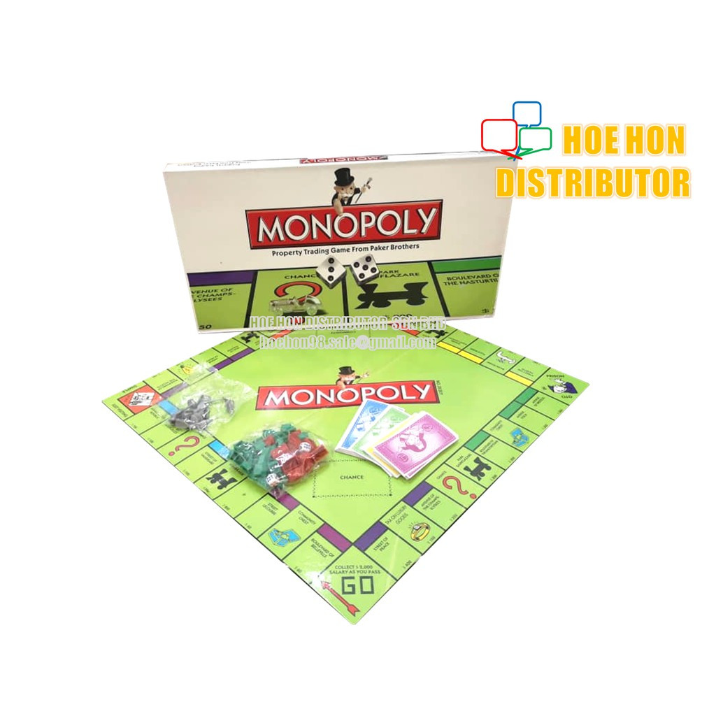 image of Monopoly Real Estate Property Trading Board Game