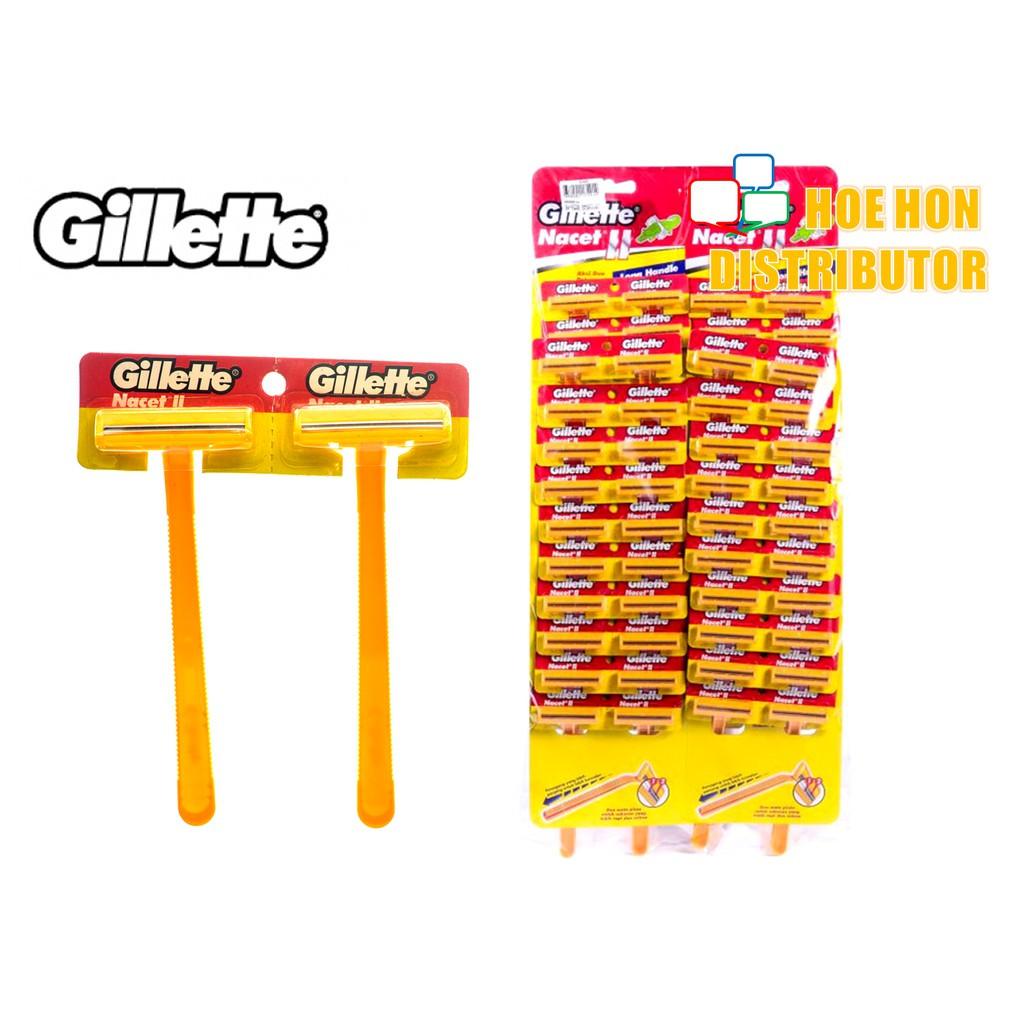 Gillette Nacet II / Nacet 2 Disposable Razor 1 Unit (ORIGNAL) Pisau Cukur