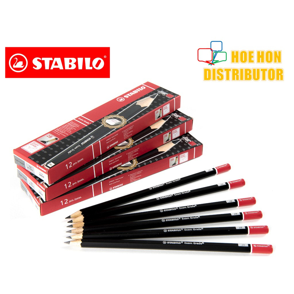 image of Stabilo Exam Grade Graphite 2B Pencil 12pc / Box