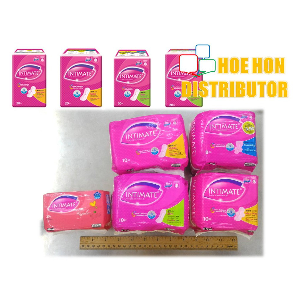 Intimate Sanitary Pad 10s / 20s Maxi Non Wing, Maxi Wing, Slim, Overnight Use