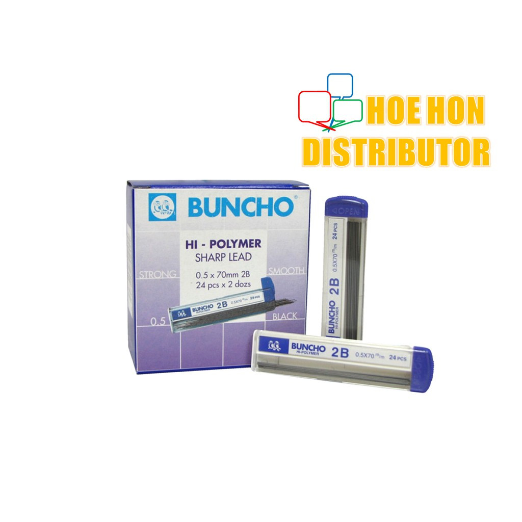 Buncho Hi-Polymer Pencil Lead 0.5 X 70mm 2B