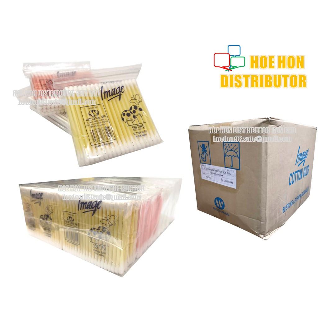 image of Multipurpose Image Cotton Bud 160 Tips / Pack With Zip Lock Bag / Kapas Telinga
