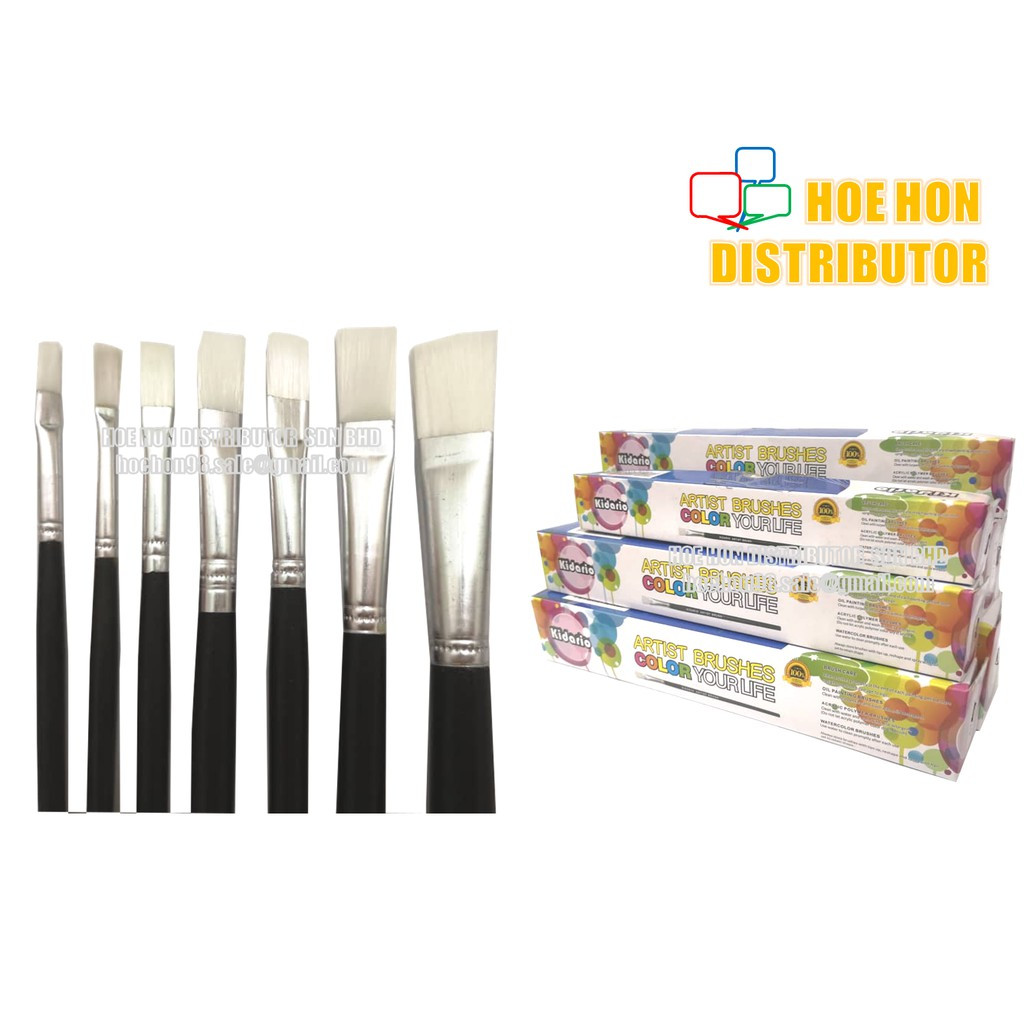 image of Economy / Low Cost Student Painting Colour / Color Brush (All Size) Berus Warna