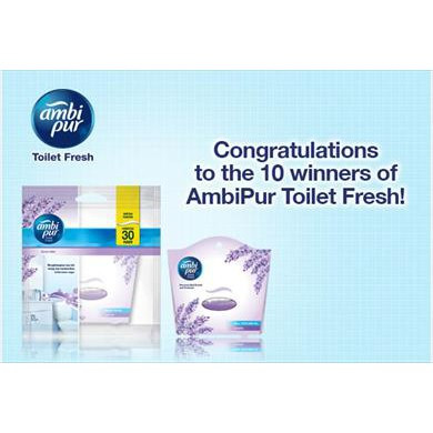 Ambi Pur Toilet Fresh 5.5ml (Real Perfume Oil) Lavender, Rose, Lemon, Jasmine