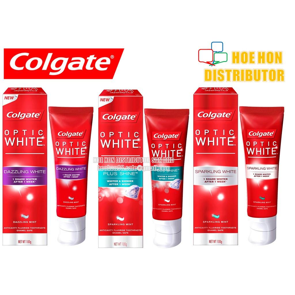 Colgate Optic White Toothpaste 100g Instant, Sparking, Dazzling, Plus Shine