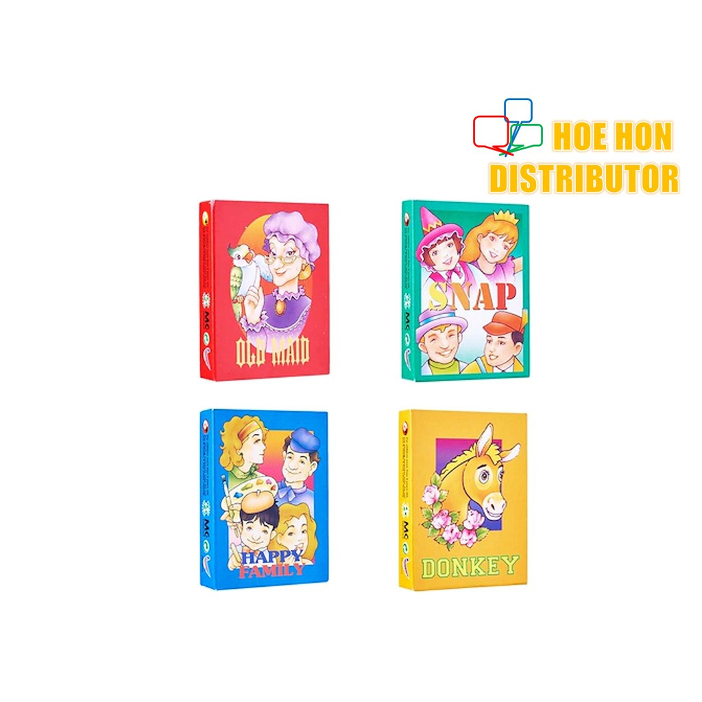 image of Snap, Old Maid, Donkey, Happy Family Traditional Playing Card Game