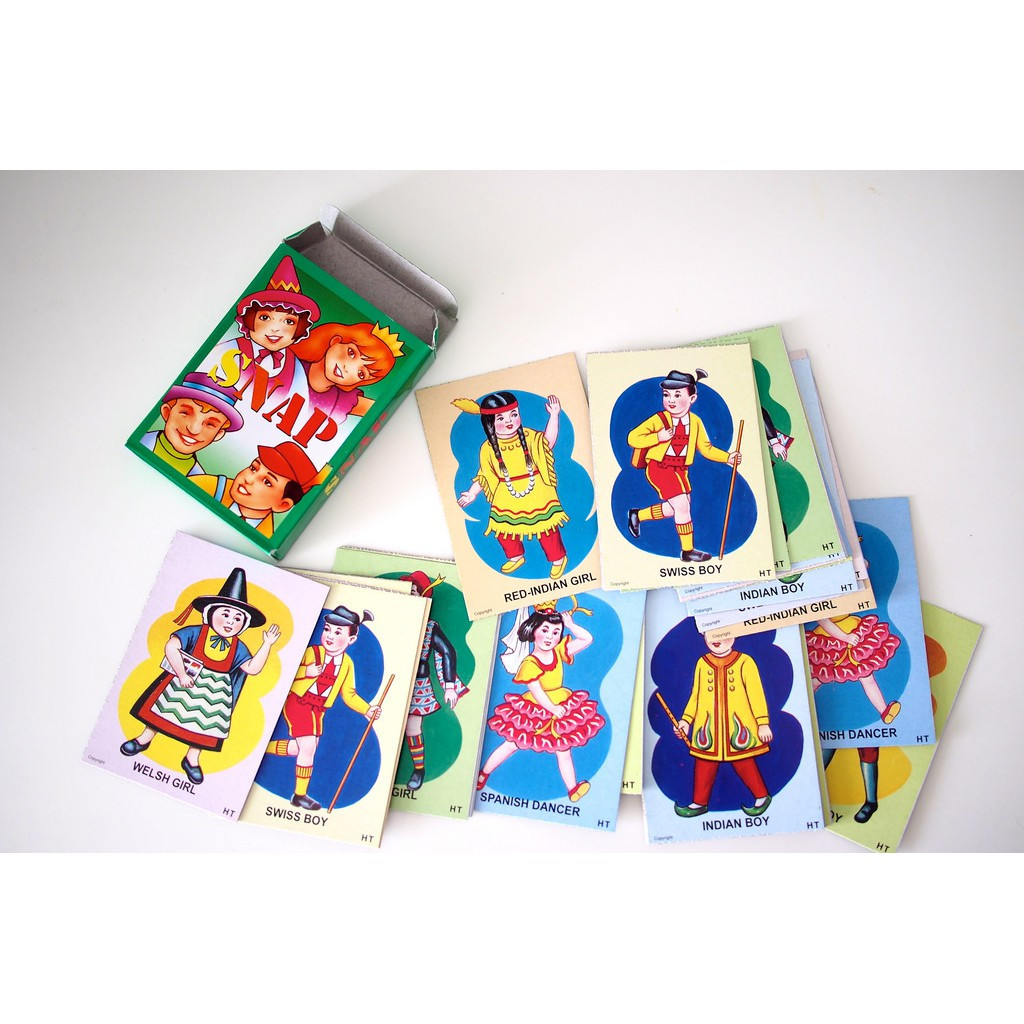 Snap, Old Maid, Donkey, Happy Family Traditional Playing Card Game