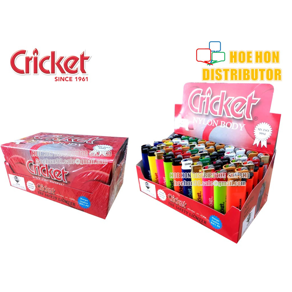 Cricket Lighter (ORIGINAL) Made In Malaysia, Disposable Gas Lighter