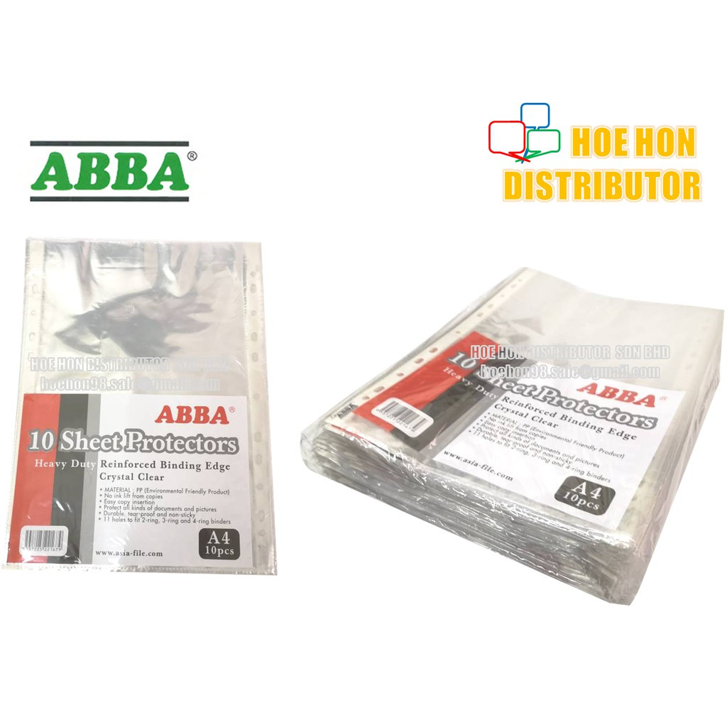 image of ABBA A4 Paper Sheet Protector 10pcs / Pack CL6