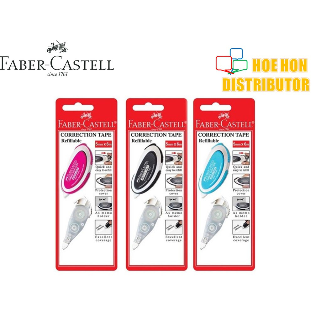 image of Faber Castell / Faber-Castell Correction Tape 5mm X 6m