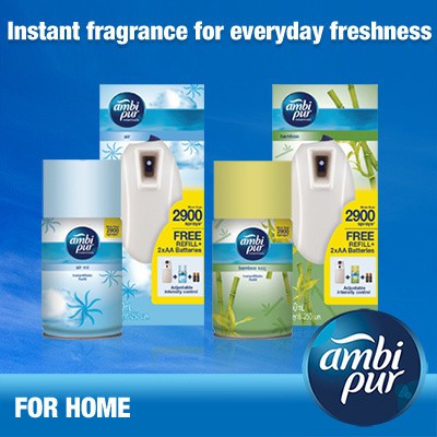 Ambi Pur Instantmatic / Automatic / Starter Spray 250ml Lavender Breeze, Bambo