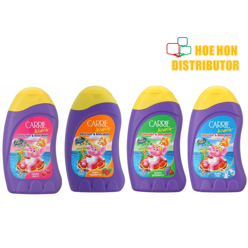 image of Carrie Junior Baby Hair & Body Wash 90g Travelling / Convenient Pack