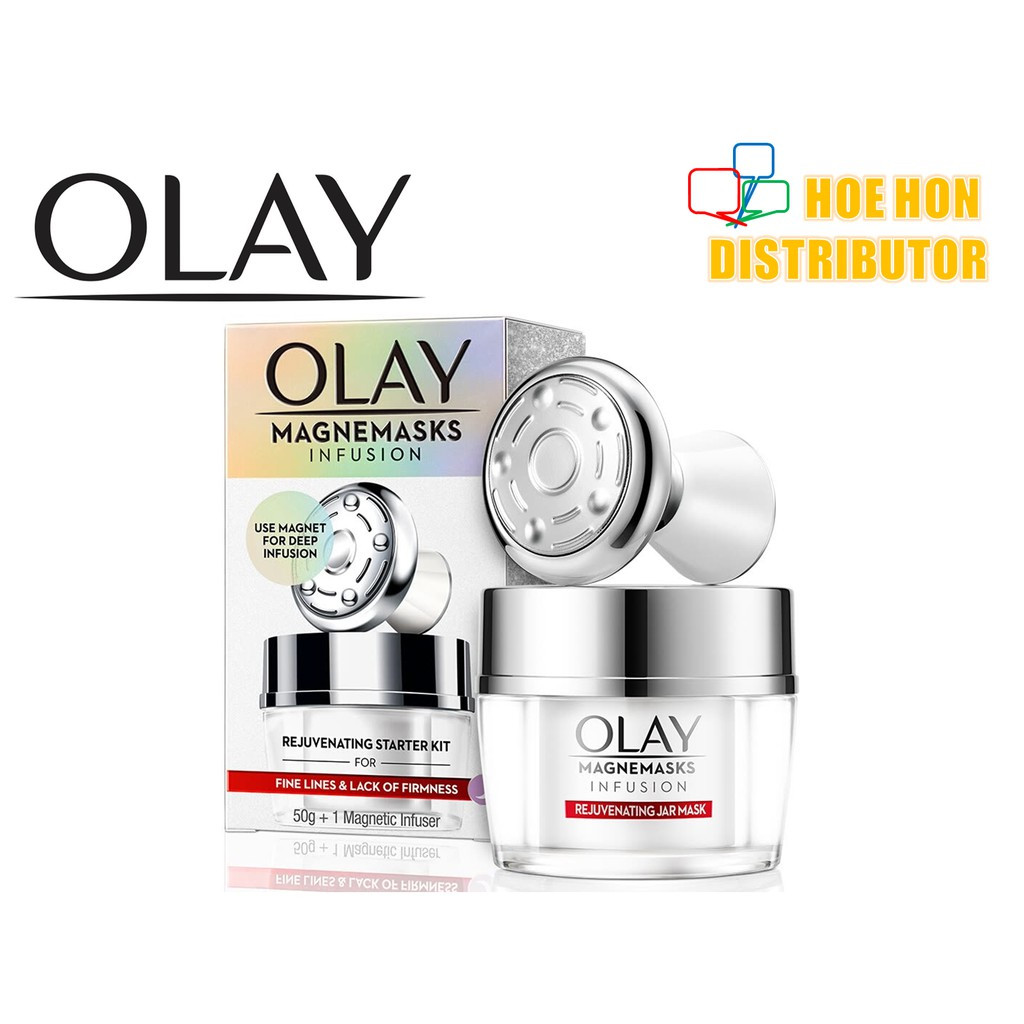 image of [NEW] Olay Regenerist Magnemasks Infusion Rejuvenating Mask Starter Kit 50g