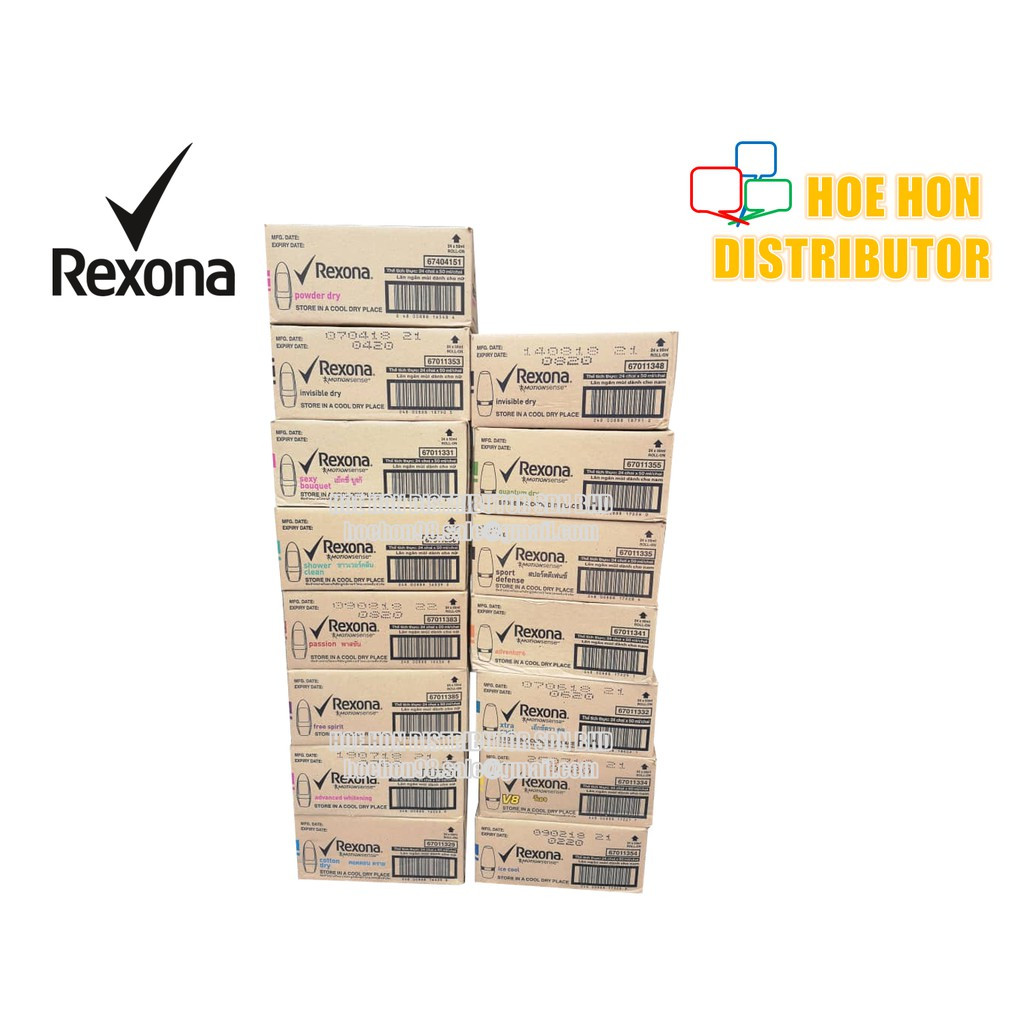 image of [Wholesales / Borong] Rexona Deodorant Roll On 50ml 24 Unit / Carton