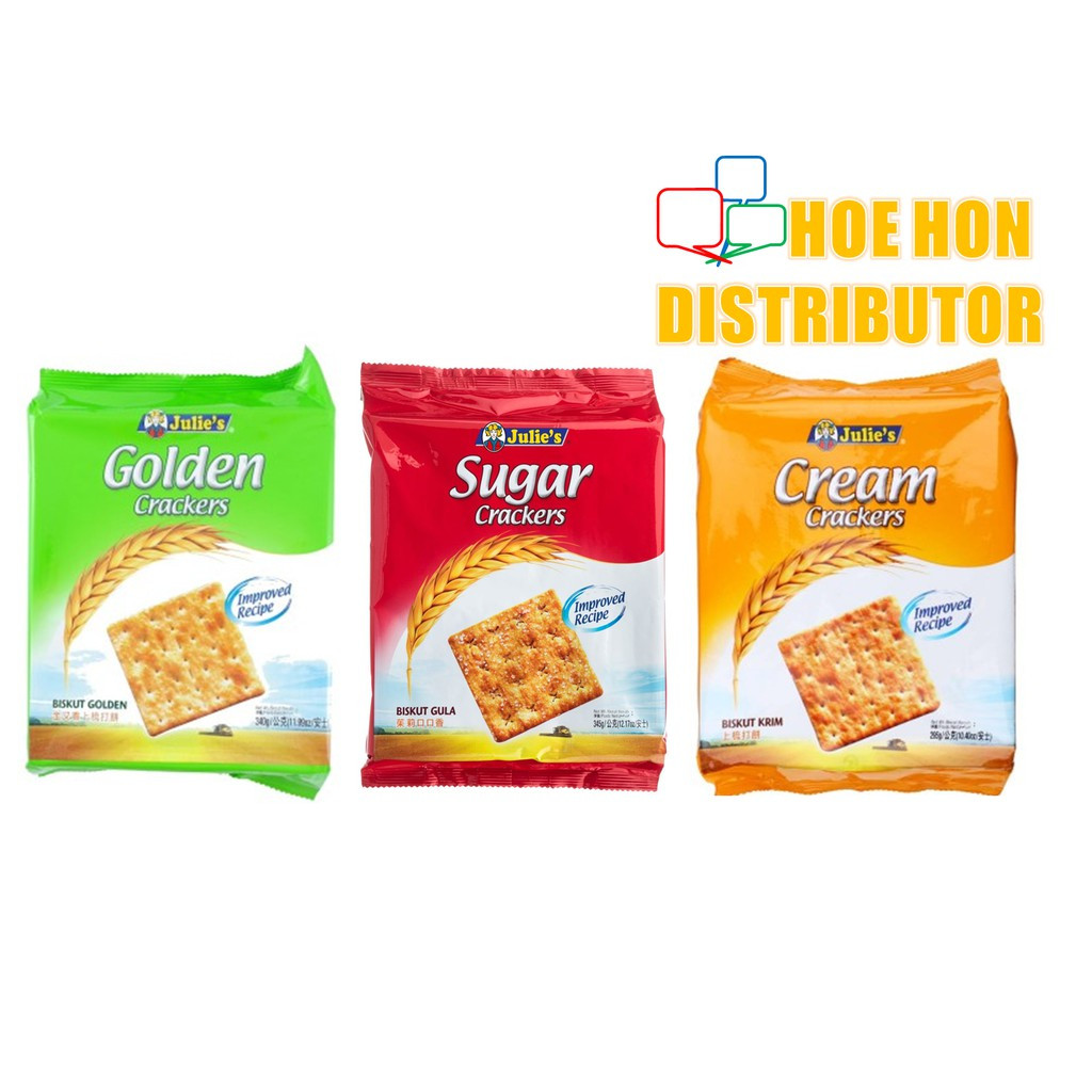 image of Julie's Golden Cracker, Sugar Cracker, Cream Cracker (Improved Recipe) 340g