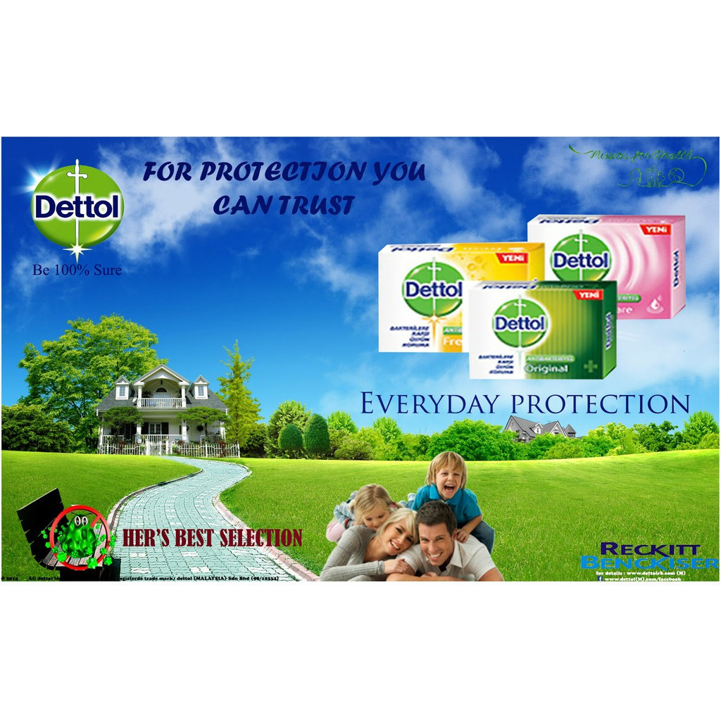 Dettol Soap 105g 3+1 Original, Fresh, Active, Cool, Skincare Anti Bacterial Soap
