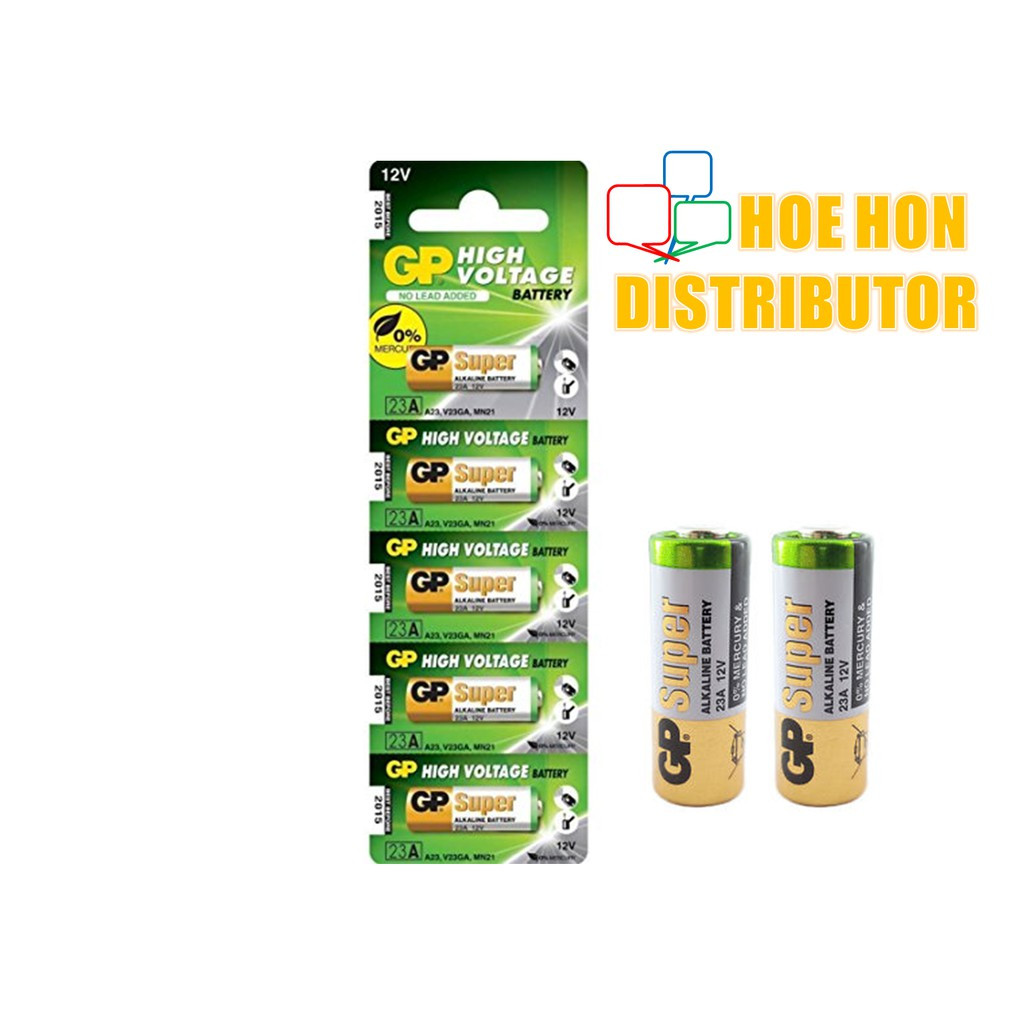 image of GP Super Alkaline Battery 12V 23A, A23, 23AE, 23AF, V23GA, Remote Control 1unit