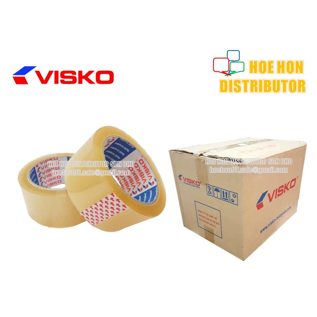 image of Visko OPP Adhesive Transparent Packaging Tape 48mm X 80m / 2 Inch X 90 Yard