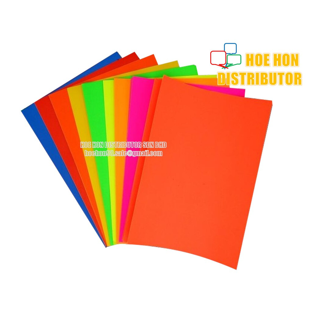 image of Fluorescent Colour Inkjet / Laser Printing A4 Matte Sticker Paper 10pcs / Pack