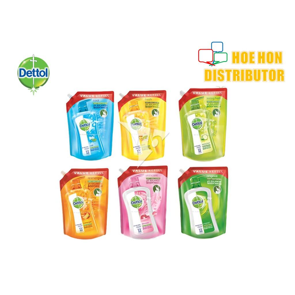 Dettol Anti-Bacterial Body Wash Shower Gel Refill Pouch 900ml