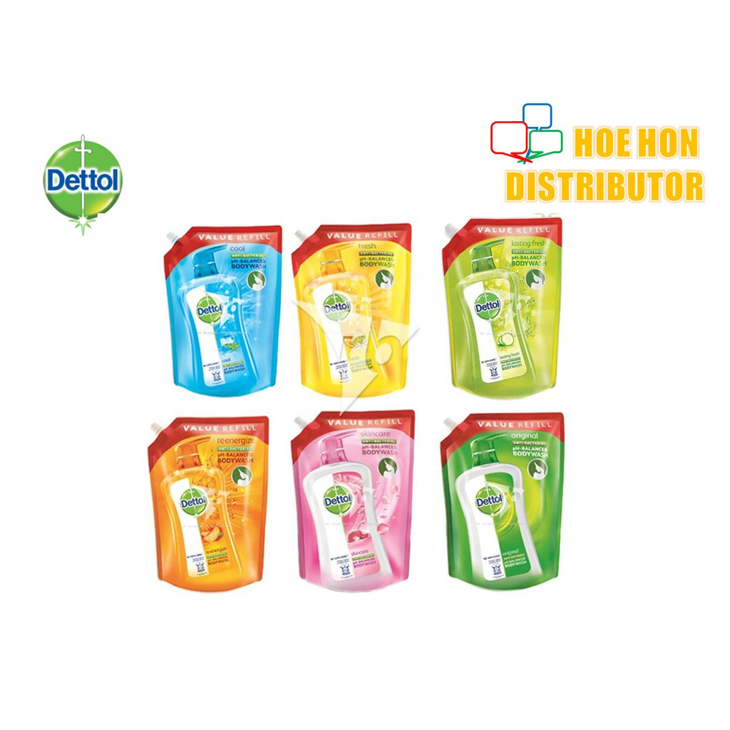image of Dettol Anti-Bacterial Body Wash Shower Gel Refill Pouch 900ml