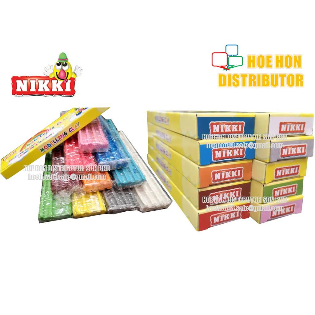 Nikki Single Colour Brick Modelling Clay / Tanah Liat Pemodelan