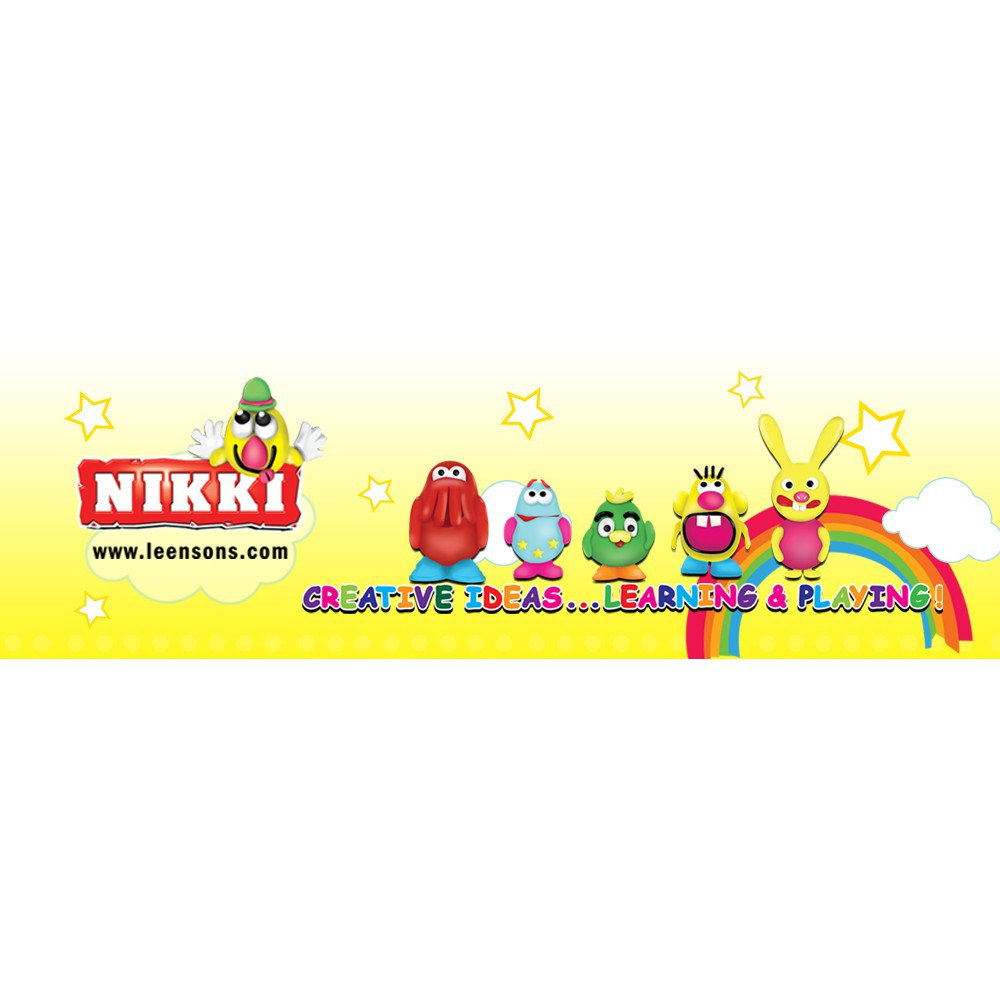 Nikki Single Colour Brick Modelling Clay / Tanah Liat Pemodelan