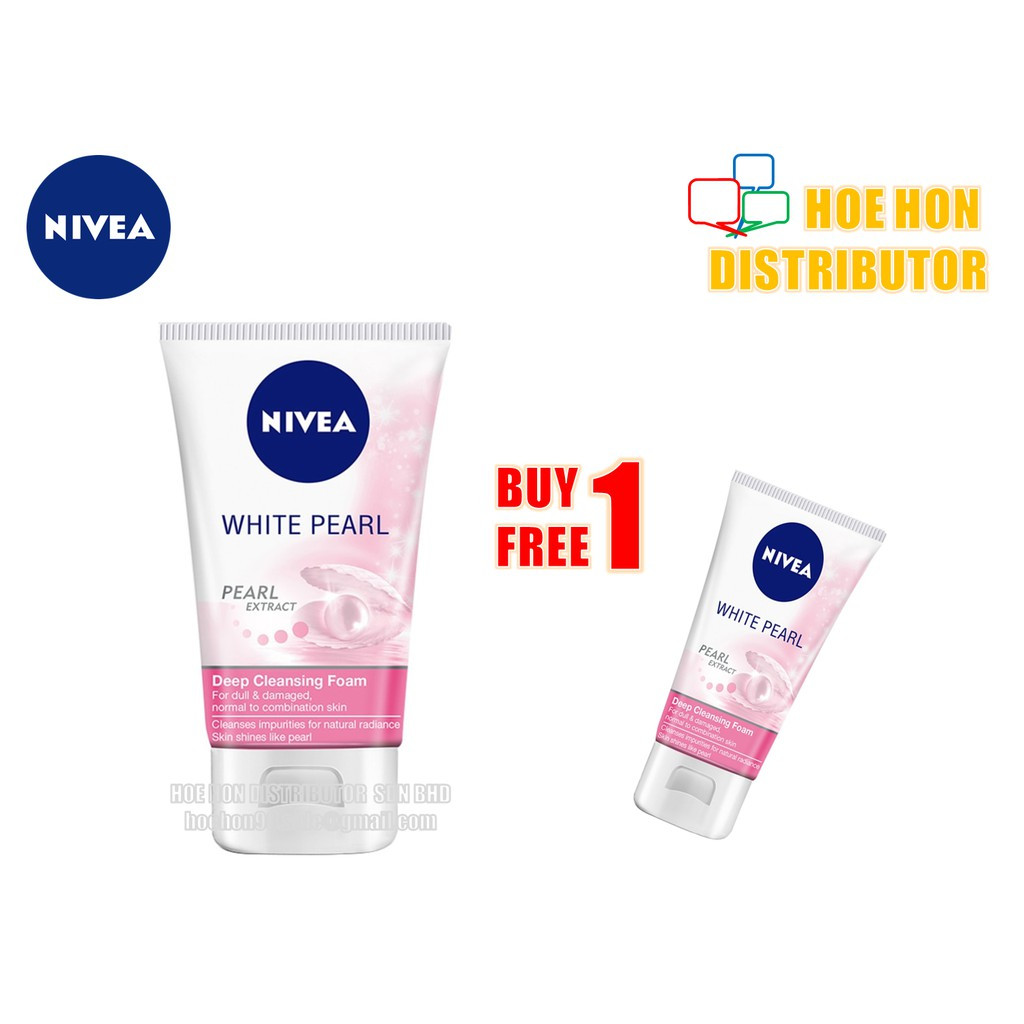Nivea White Pearl Deep Cleansing Foam / Cleanser 100ml Free 50ml