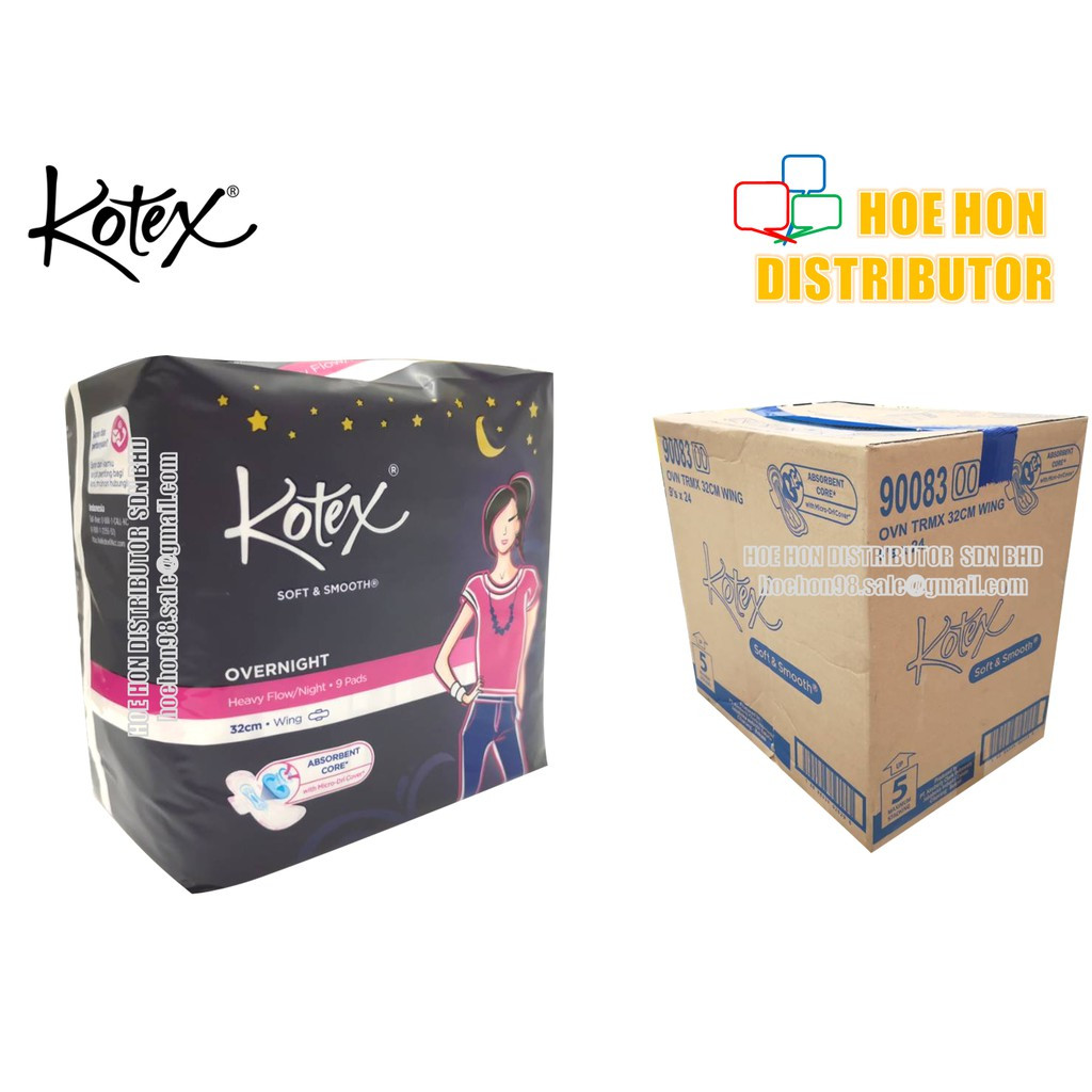 image of [NEW] Kotex Overnight Wing Extra Long 32cm 9 Pads Heavy Flow