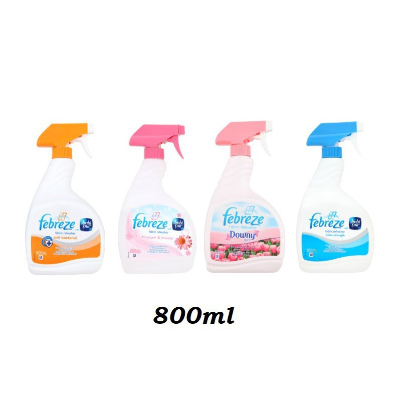 Febreze Spray 800ml ( Anti Bacteria / Extra Strengh / Downy / Blossom Breeze)