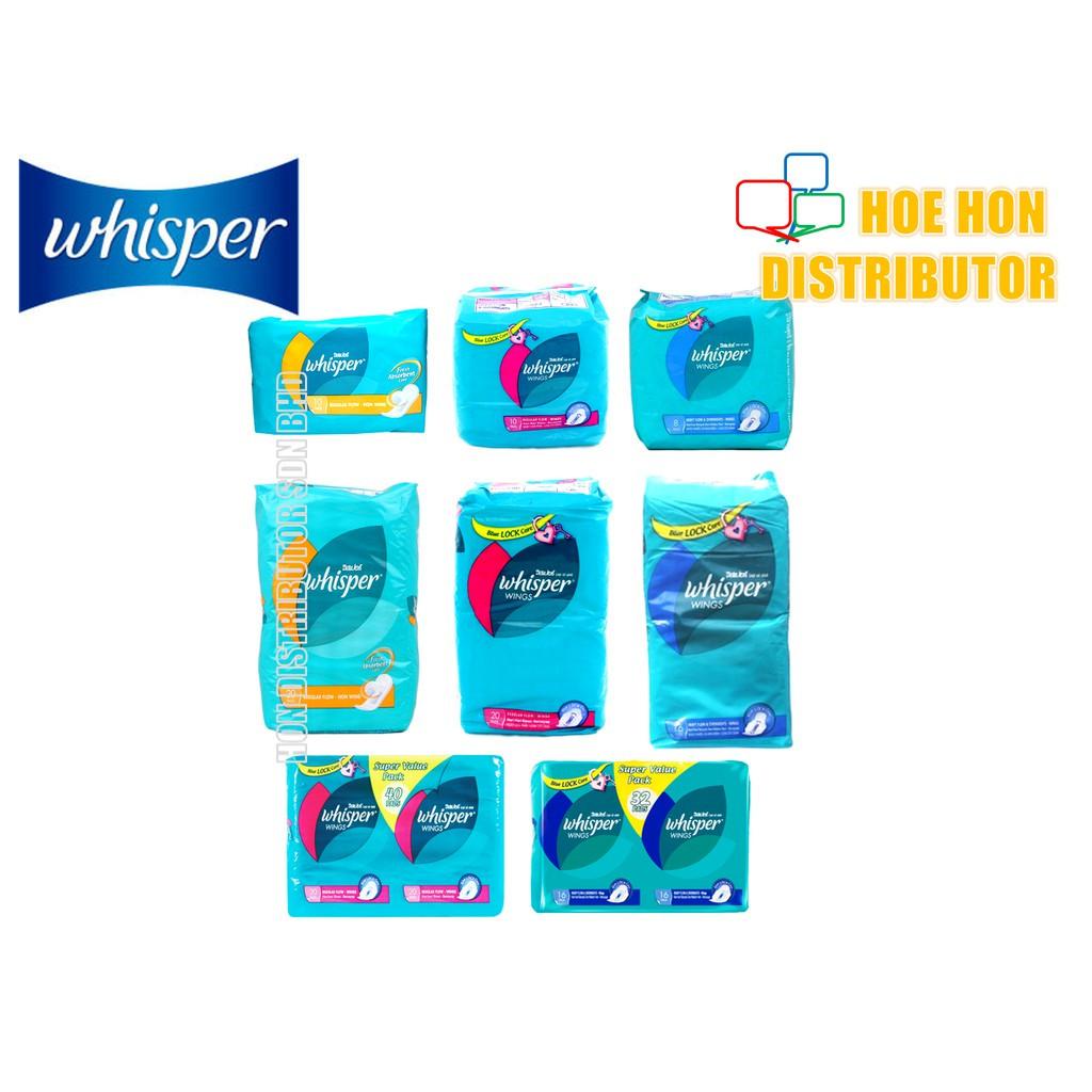 image of Whisper Wings / Non Wing, Regular Flow, Heavy Flow, Overnight (# Kotex)