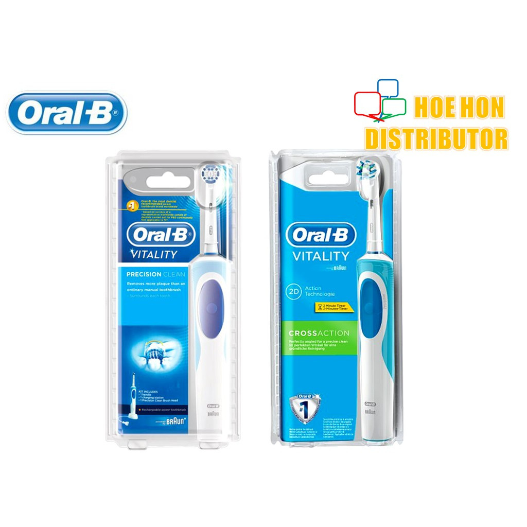 image of Oral-B Vitality Rechargeable / Electric Precision Clean Crossaction Toothbrush