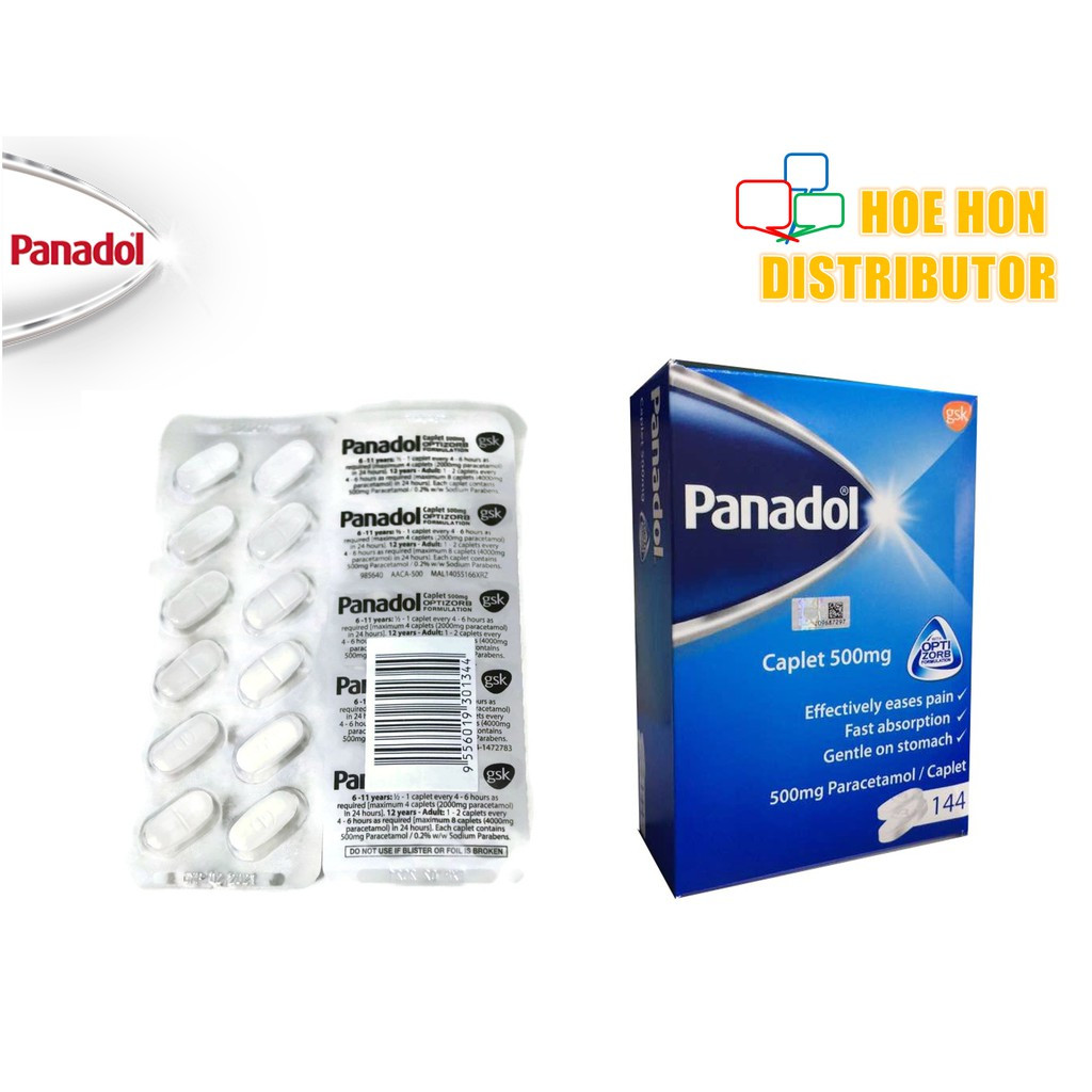 Panadol Caplet 500mg Optizorb Formulation 12 Tablets / Strip