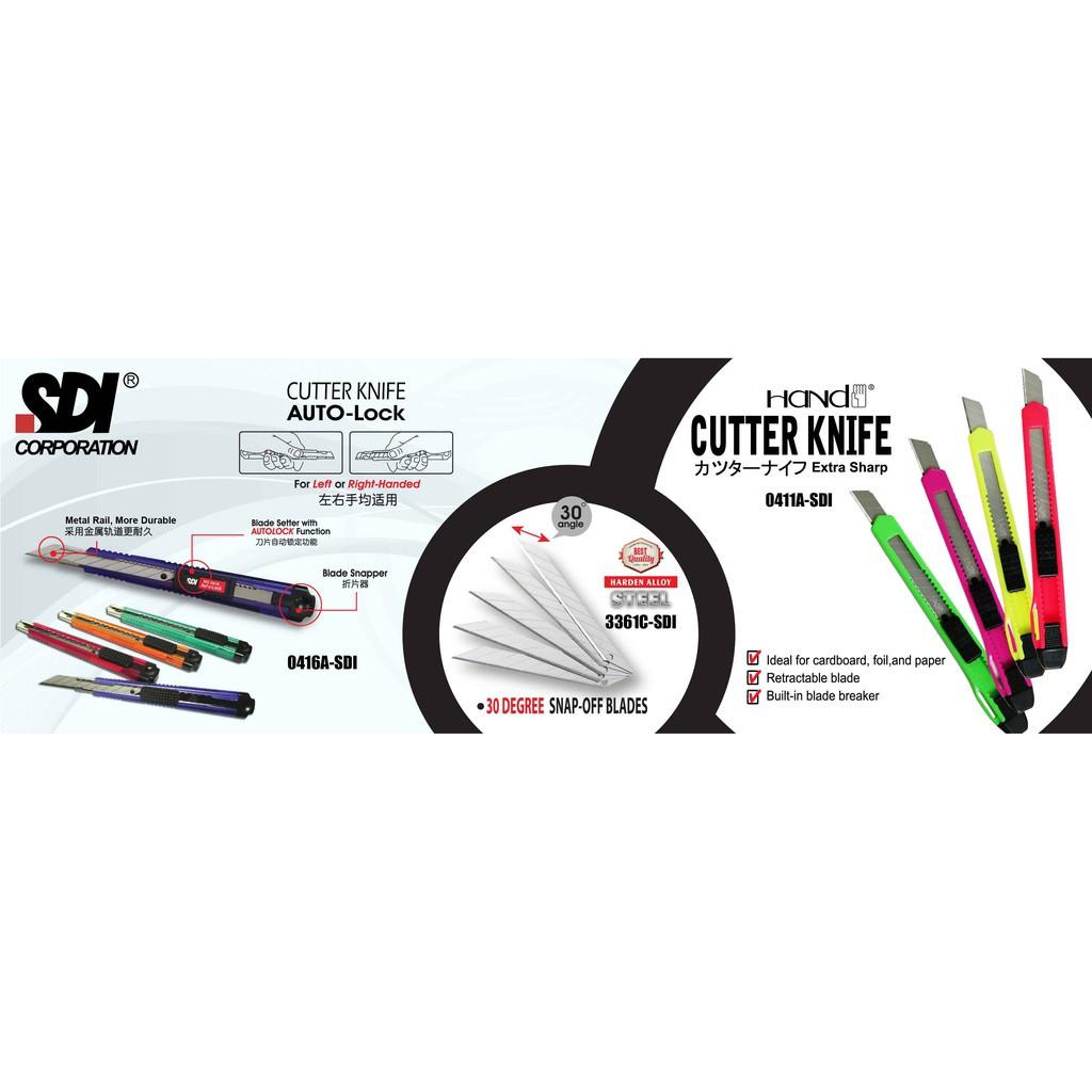 SDI Cutter Knife 9mm / Student Knife / Pisau Pemotong 0411A