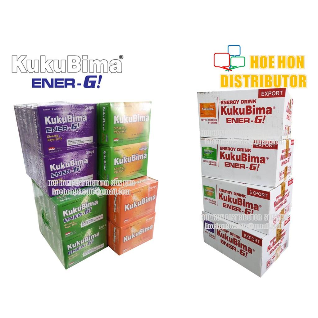 image of Kukubima Ener-G Drink Minuman Suplemen 6 Sachet / Box