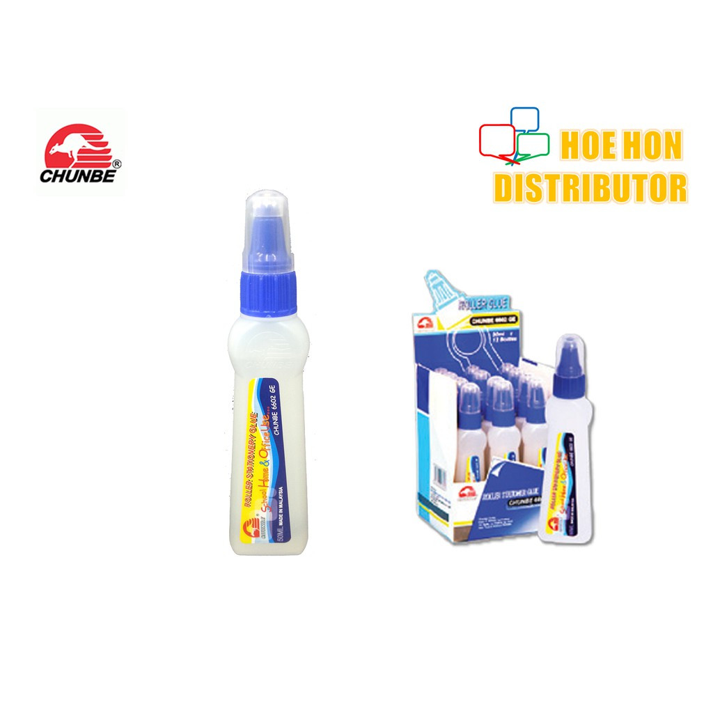 Chunbe Roller Glue 50ml With Nozzle Ball 6602 GE, Gam Cecair