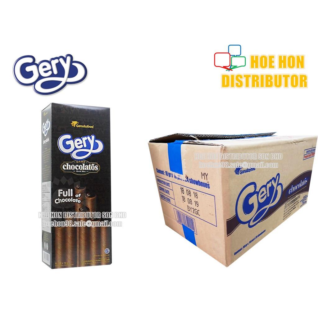 image of Gery Chocolatos Dark Chocolate Wafer Roll 16g X 10 Sticks / 160g HALAL