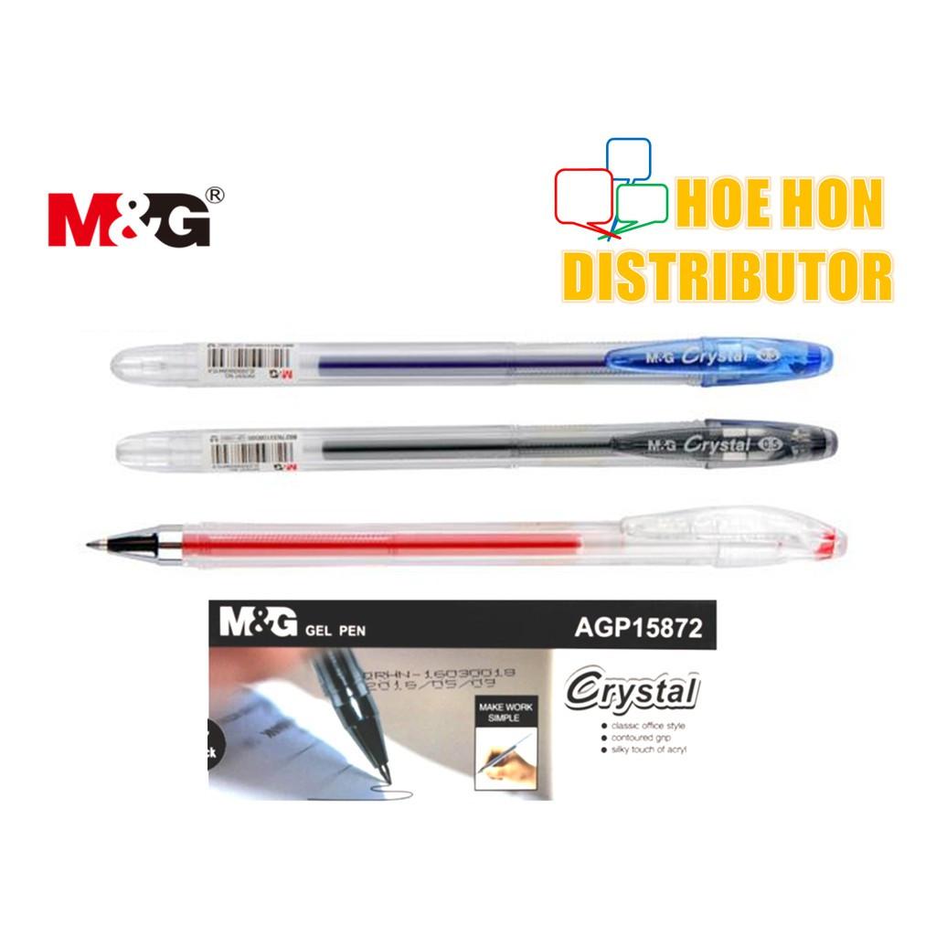 image of M&G Crystal Gel Pen 0.5mm 0.7mm Black Blue Red