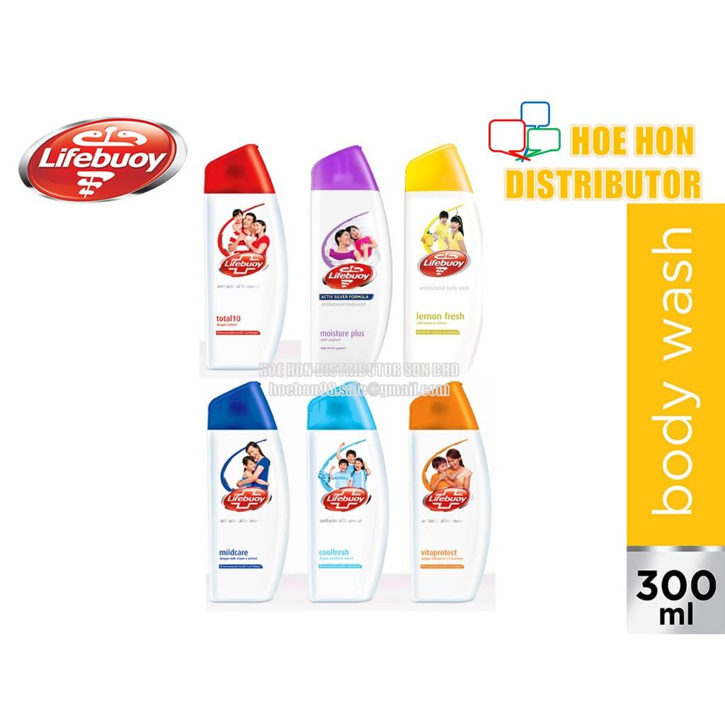 Lifebuoy Bodywash / Body Wash / Shampoo 300ml