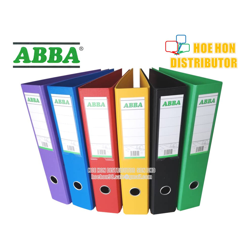"image of ABBA Colour / Color PVC Lever Arch File / Fail Warna 3"" / 75mm"