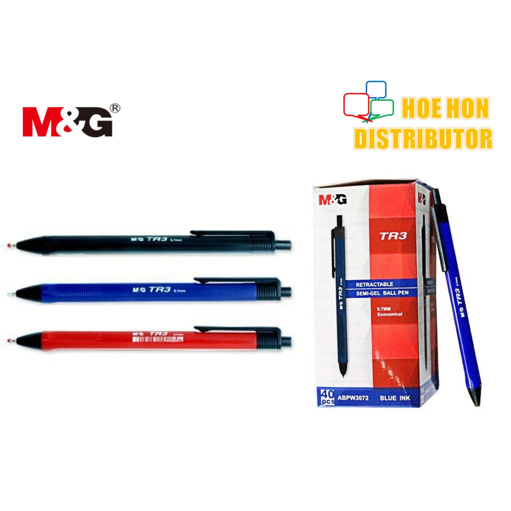 image of M&G TR3 Triangle Grip Semi Gel Ball Pen 0.7mm