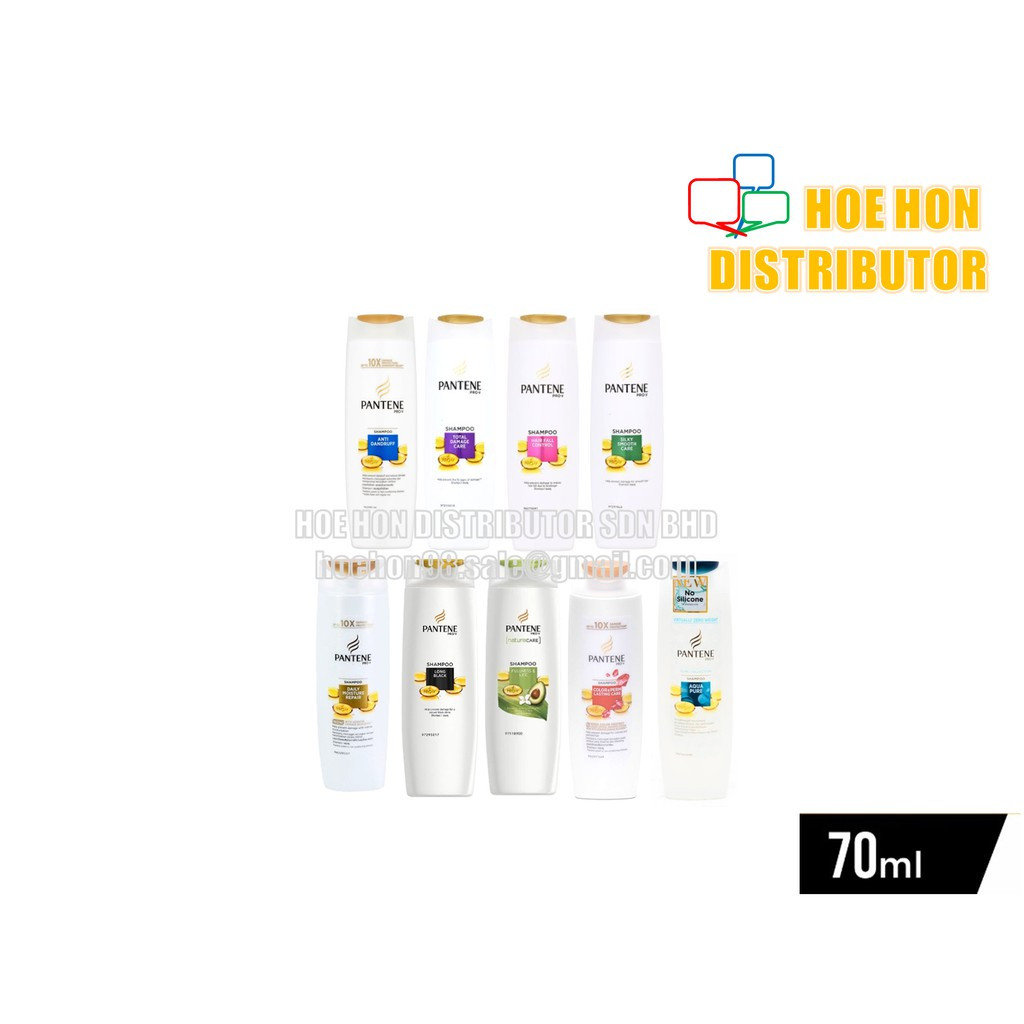 image of Pantene Hair Shampoo / Rambut 70ml Anti Dandruff Hair Fall Control Silky