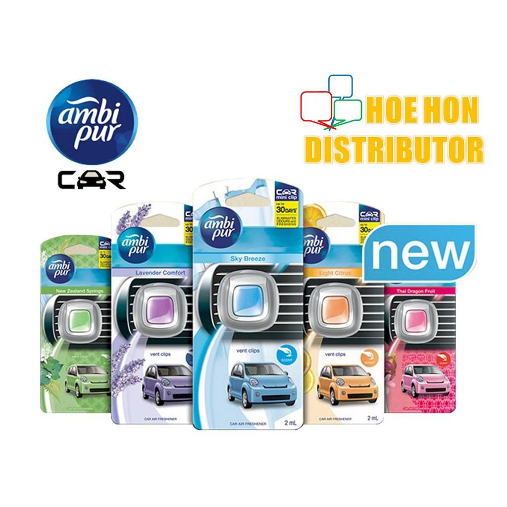 image of Ambi Pur Car Mini Clip Air Freshener 2ml (Pengharum Mobil)