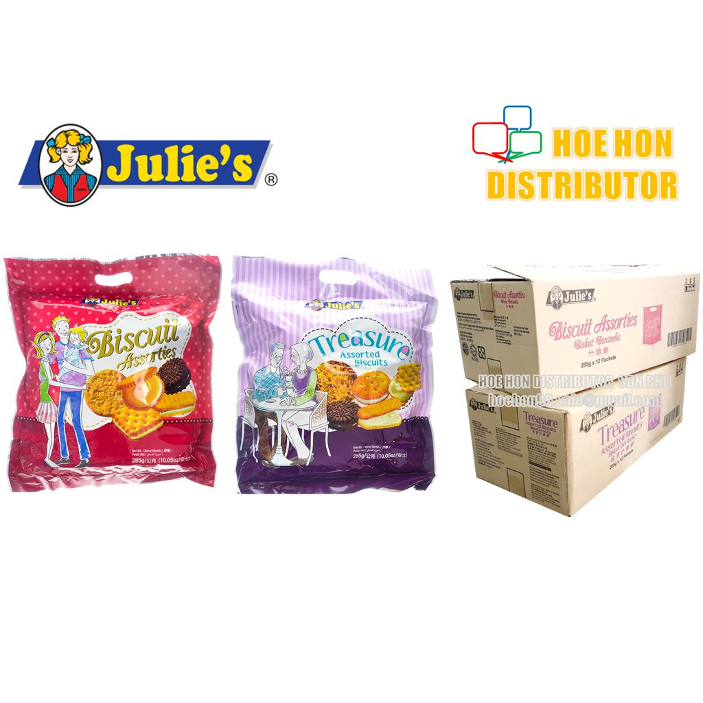 image of Julie's Biscuits Assorties / Treasure Assorted Biscuits 285g